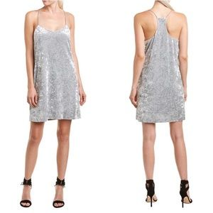 NWT CeCe Grey Crushed Velvet Tank Dress Size 14